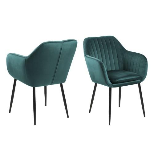 Krzesło Emilian Velvet green/black