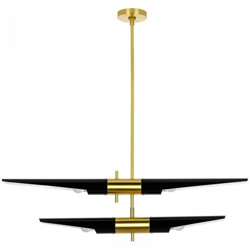Lampa wisząca APOLLO 2 czarna - szczotkowane złoto