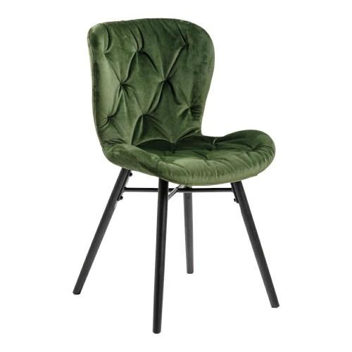 Krzesło Lavida -Forest green/ pikowana