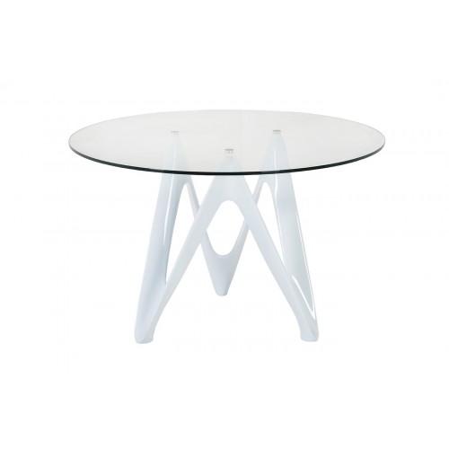 Stół szklany LAMBDA biały - szkło, włókno szklane