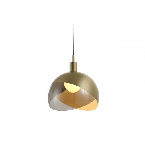 Lampa wisząca GLOBO 25 złota - metal, szkło