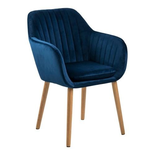 Krzesło Emilian Velvet deep blue