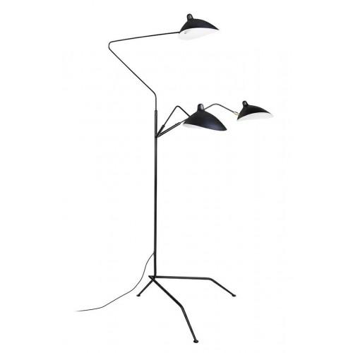 Lampa podłogowa RAVEN FLOOR UP 3 czarna - aluminium, stal węglowa