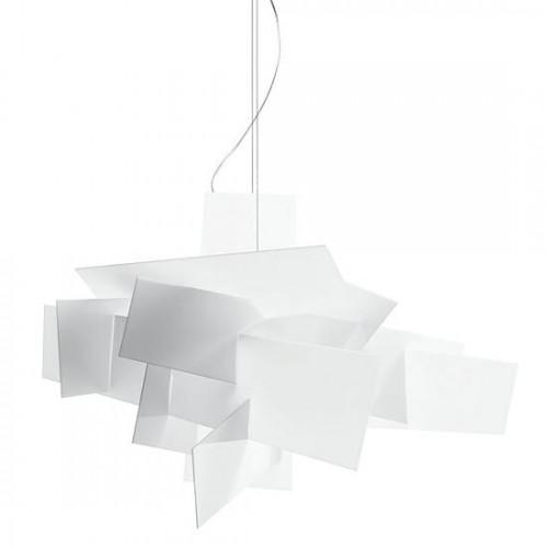 Lampa wisząca BANG BANG 65 biała - akryl, aluminium, stal