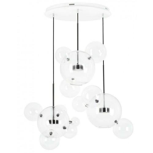 Lampa wisząca CAPRI DISC 3 czarna - LED, aluminium, szkło