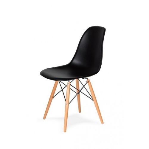 Krzesło DSW WOOD czarne.03 - podstawa drewniana bukowa