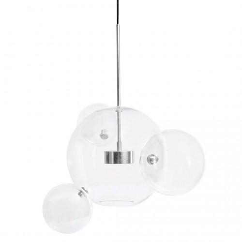 Lampa wisząca CAPRI 4 chrom - LED, aluminium, szkło