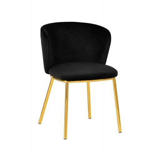 Krzesło MANTIS czarne - welur, podstawa złota