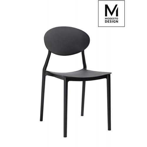 MODESTO krzesło FLEX czarne - polipropylen