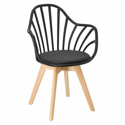 Krzesło Sirena z podłokietnikami czarne