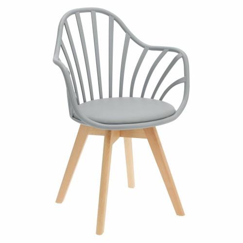 Krzesło Sirena z podłokietnikami szare