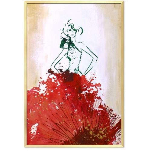 Obraz Lady in Red Flower