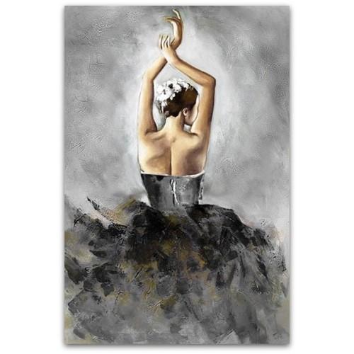 Obraz Baletnica Glamour Black