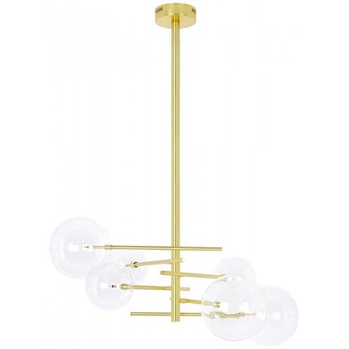 Lampa wisząca ASTRO złota - aluminium, szkło