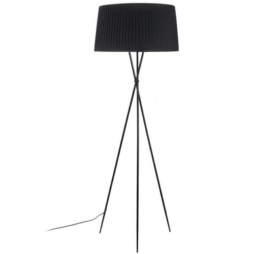 Lampa podłogowa FRILL BLACK czarna - stal węglowa