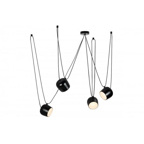 Lampa wisząca EYE 4 czarna - LED, aluminium