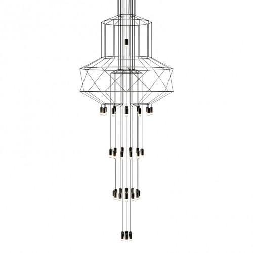 Lampa wisząca FLUSSO 43 czarna