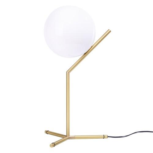 Lampa biurkowa HALM 2 - mosiądz, szkło