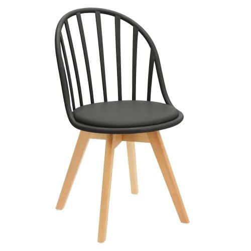 Krzesło Sirena czarne