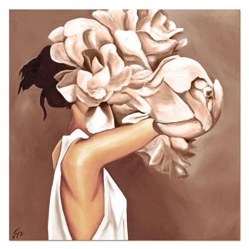 Obraz Abstrakcja Twarz Kwiat 4