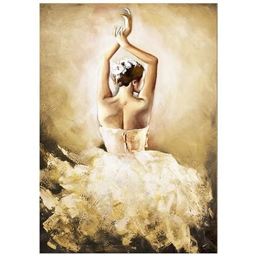 Obraz Baletnica Glamour Beige