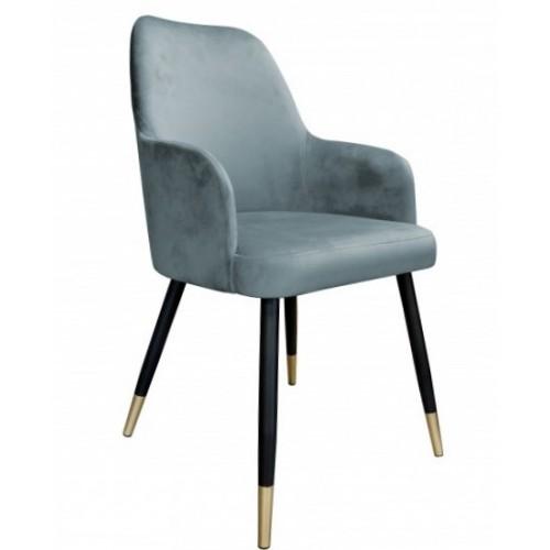 Krzesło Rigel na metalowych czarnych nogach + złote stopki