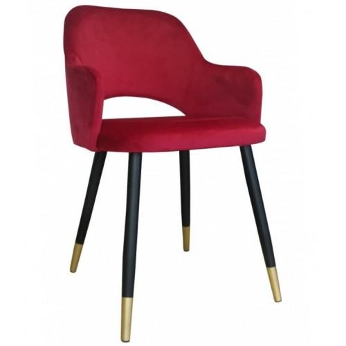 Krzesło Hadar na metalowych czarnych nogach + złote stopki