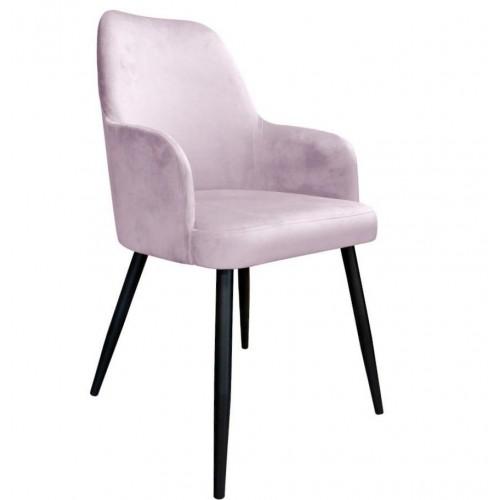 Krzesło Rigel Velvet na metalowych czarnych nogach