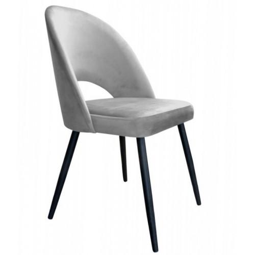 Krzesło Atria Velvet na metalowych czarnych nogach