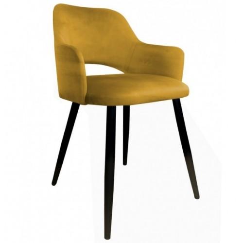 Krzesło Antares Velvet na metalowych czarnych nogach