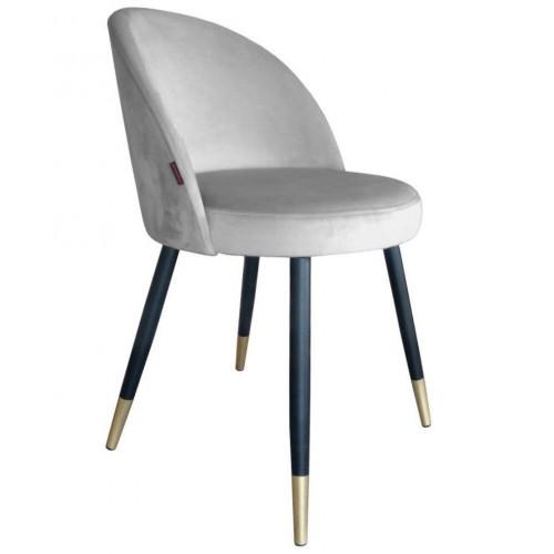 Krzesło Szedar na metalowych czarnych nogach + złote stopki
