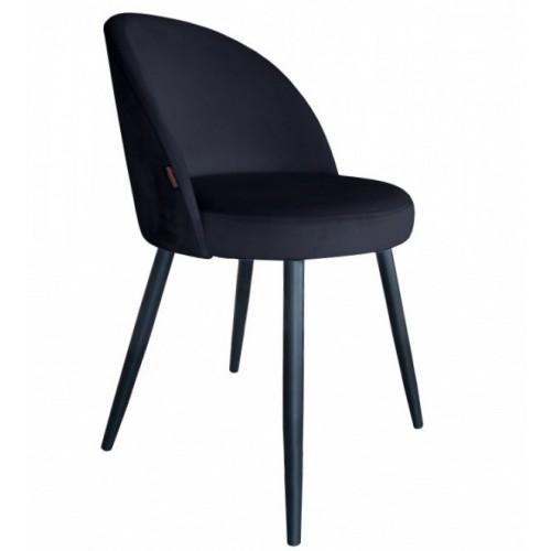 Krzesło Szedar Velvet na metalowych czarnych nogach