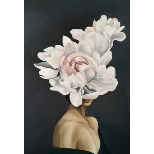Obraz Abstrakcja Twarz Kwiat 7