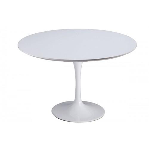 Stół TULIP PREMIUM 100 biały  - włókno szklane, metal