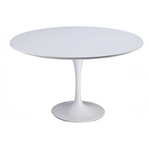 Stół TULIP PREMIUM 120 biały - włókno szklane, metal