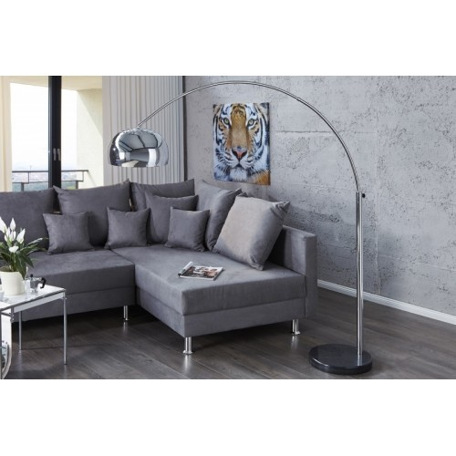 INVICTA Lampa podłogowa SLACK chromowana - 170-205 cm