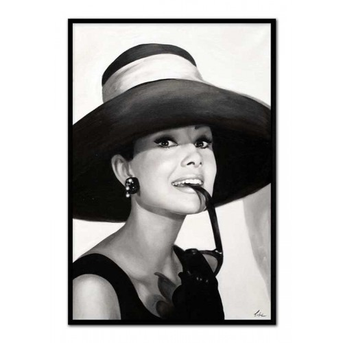 Obraz Audrey Hepburn w kapeluszu
