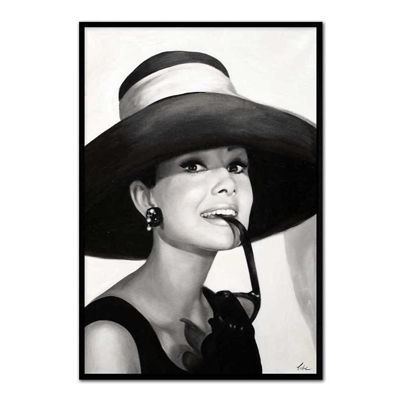 Obraz czarna Audrey