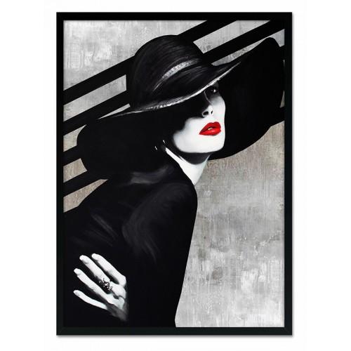 Obraz Kobieta w Kapeluszu