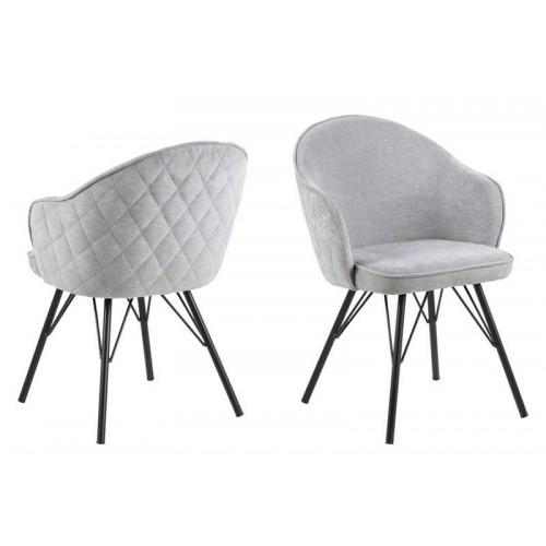 ACTONA krzesło tapicerowane MITZIE szary