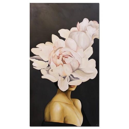 Obraz Abstrakcja Twarz Kwiat 5