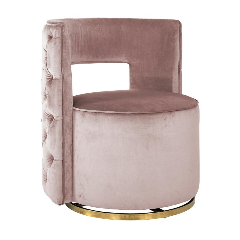 RICHMOND fotel obrotowy JAMIE PINK VELVET podstawa złota
