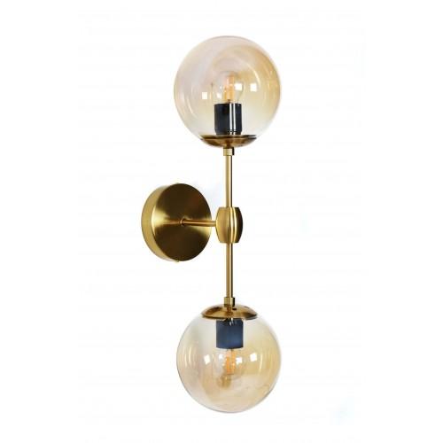 LAMPA ŚCIENNA KINKIET LOFTOWY MOSIĘŻNY ZODIAK W2