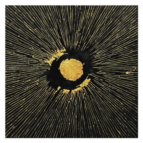 Obraz Czarno Złoty kwadrat