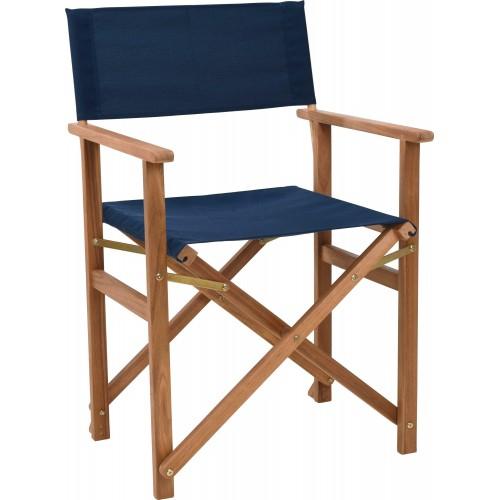Krzesło reżyserskie Fame niebieskie