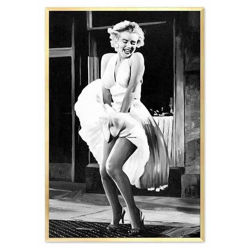 Obraz olejny Marilyn Monroe w białej sukience