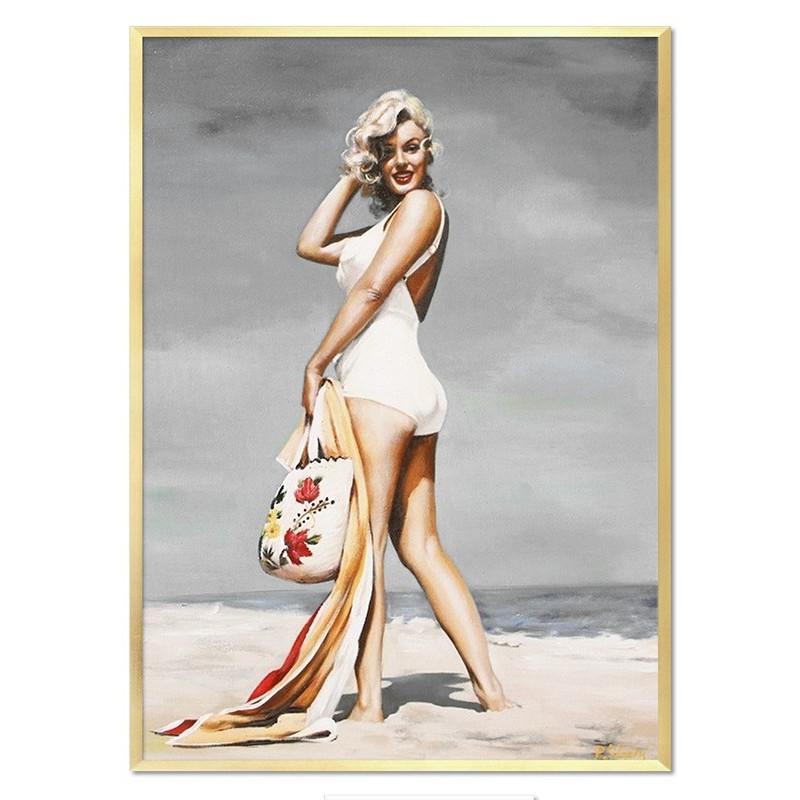 Obraz olejny Marilyn Monroe na plaży