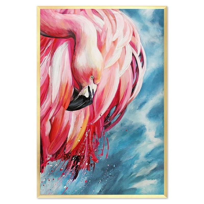 Obraz Różowe flamingi Glamour