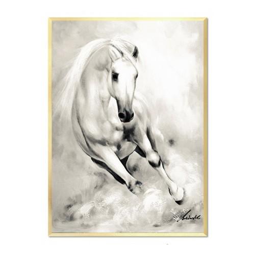 Obraz Biały Koń glamour