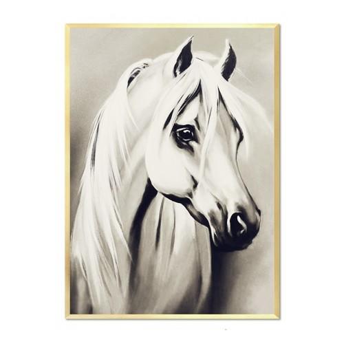 Obraz Biały Koń glamour 2
